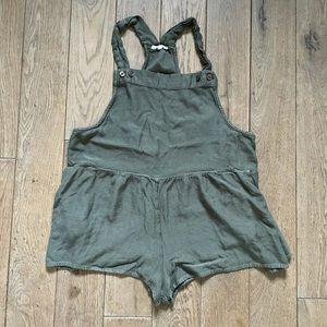 Green overall romper